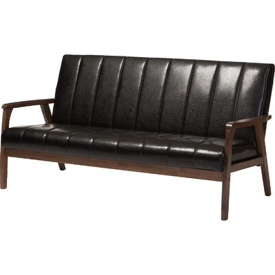Kinley Loveseat Upholstery: Brown