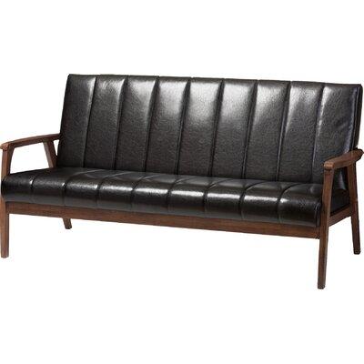 Kinley Loveseat Upholstery: Black