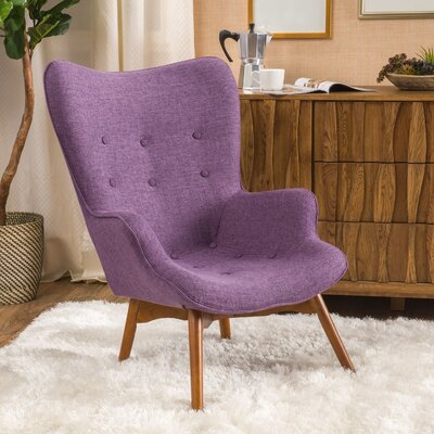 Canyon Vista Mid-Century Lounge Chair Upholstery: Purple