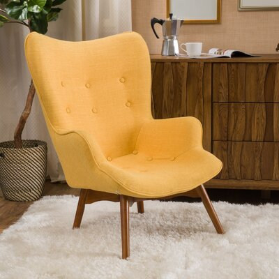 Canyon Vista Mid-Century Lounge Chair Upholstery: Yellow