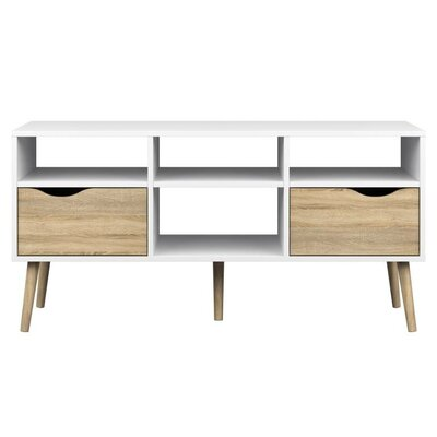 Mateer 46 TV Stand Color: White/Brown