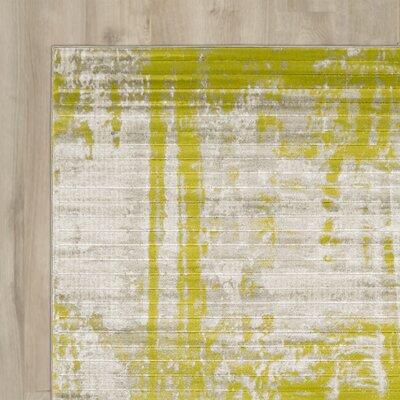 Dahl Light Grey/Lime Area Rug