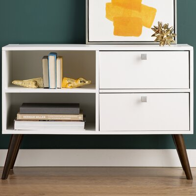 Carneal TV Stand Finish: White
