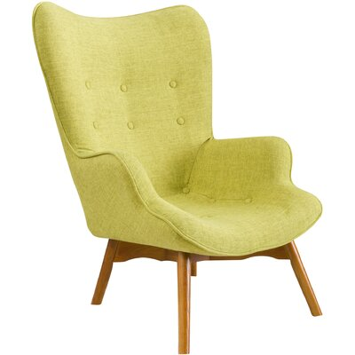 Canyon Vista Mid-Century Lounge Chair Upholstery: Green