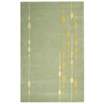 Bermondsey Hand-Tufted Light Green Area Rug Rug Size: 96 x 136