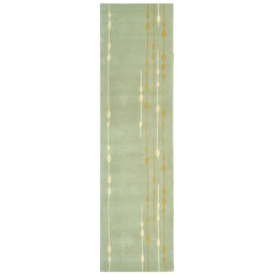 Bermondsey Hand-Tufted Light Green Area Rug Rug Size: Runner 26 x 10