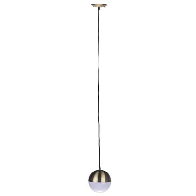 Escuela 1-Light Bowl Pendant Finish: Brass