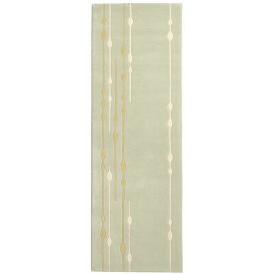 Bermondsey Hand-Tufted Light Green Area Rug Rug Size: Runner 26 x 8