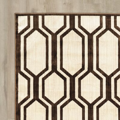 Patro Beige/Brown Area Rug Rug Size: Rectangle 2' x 3'
