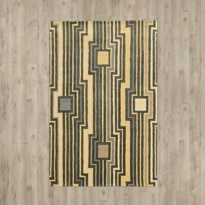 Patnode Hand-Tufted Beige/Gray Area Rug Rug Size: Rectangle 5 x 8