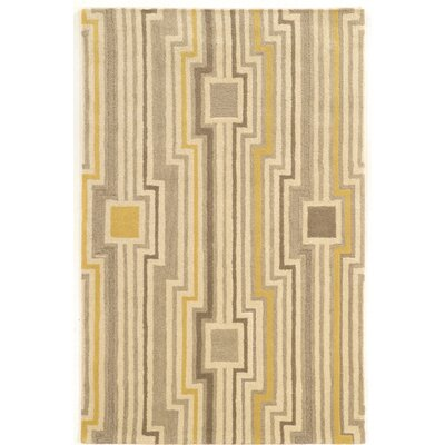 Patnode Hand-Tufted Beige/Gray/Yellow Area Rug Rug Size: 2 x 3