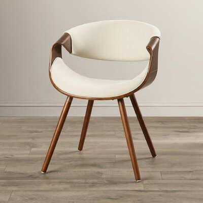 Corsica Curvo Barrel Chair Upholstery: Cream