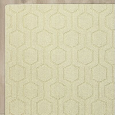 Ogden Hand-Woven Beige Area Rug Rug Size: 76 x 96