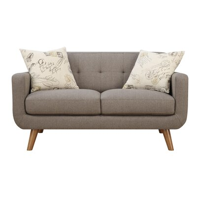 Langley Street LGLY3306 31344379 Burton Loveseat with 2 Accent Pillows Finish