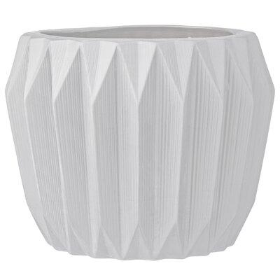 Trenton Fluted Ceramic Pot Planter Size: 6