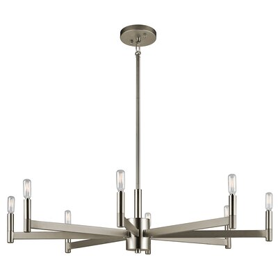 Gavin 8-Light Candle-Style Chandelier Finish: Satin Nickel