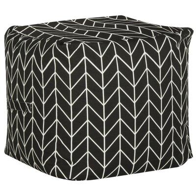 Alec Pouf Ottoman Upholstery: Black/White