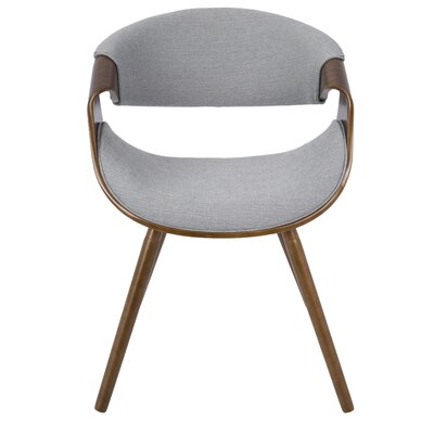 Corsica Curvo Barrel Chair Upholstery: Gray