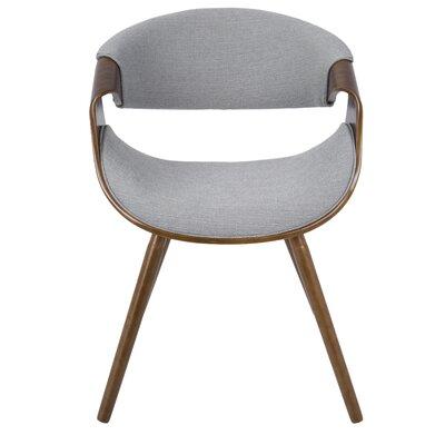Corsica Curvo Barrel Chair Upholstery: Gray