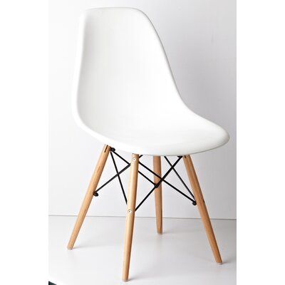 Halfmoon Side Chair (Set of 2) Finish: White