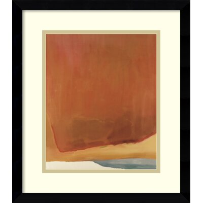 Sunset Corner,1969 Abstract Framed Painting Print