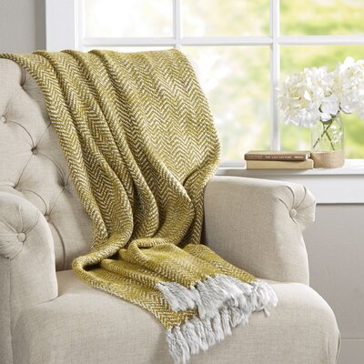 Massey Throw Blanket Color: Yellow
