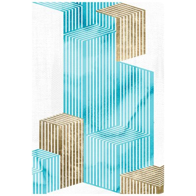 Going Up! Gold Beach Graphic Art on Wrapped Canvas Size: 15