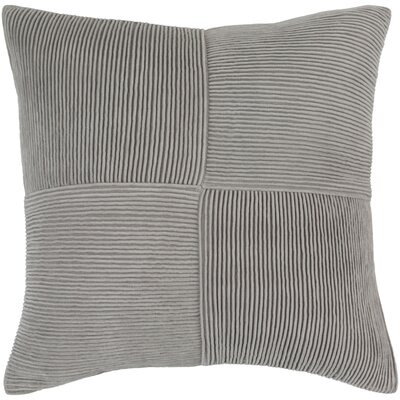 Bellevue 100% Cotton Pillow Cover Size: 22 H x 22 W x 0.25 D, Color: Gray