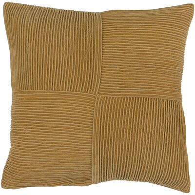 Bellevue 100% Cotton Throw Pillow Cover Color: Orange, Size: 20 H x 20 W x 1 D