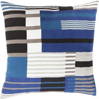 Spokane 100% Cotton Throw Pillow Cover Size: 22 H x 22 W x 0.25 D, Color: Blue