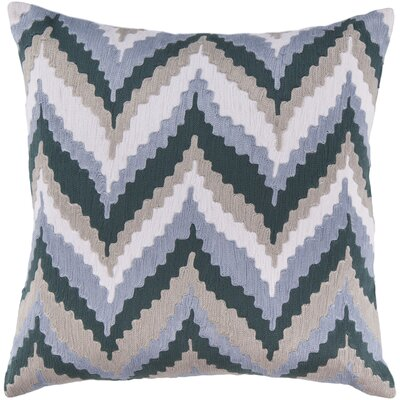Forestburgh Ikat Chevron 100% Cotton Throw Pillow Cover Size: 22 H x 22 W x 0.25 D, Color: BlueBrown