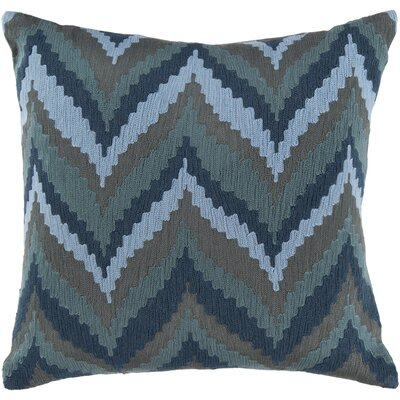 Forestburgh Ikat Chevron 100% Cotton Throw Pillow Cover Size: 18 H x 18 W x 0.25 D, Color: GrayCream