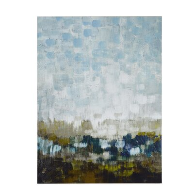 Abstract Land Painting Print on Wrapped Canvas