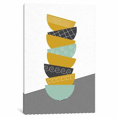 Bowls Graphic Art on Wrapped Canvas in Color Size: 12