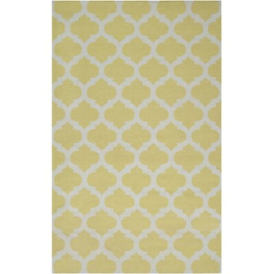 Hackbarth Gold Area Rug Rug Size: 5 x 8