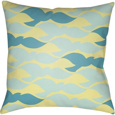 Abel Throw Pillow Size: 18 H x 18 W x 4 D, Color: Yellow