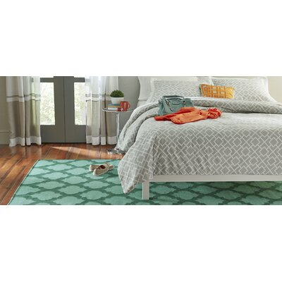 Hackbarth Hand-Woven Teal/Dark Green Area Rug Rug Size: 36 x 56