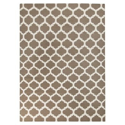 Ash Hand-Woven Taupe Area Rug Rug Size: 36 x 56