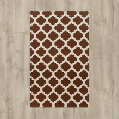 Hackbarth Hand-Woven Brown/Beige Area Rug Rug Size: 2 x 3