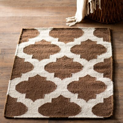 Hackbarth Hand-Woven Brown/Beige Area Rug Rug Size: 5 x 8