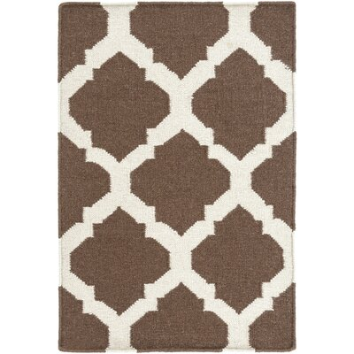 Hackbarth Hand-Woven Brown/Beige Area Rug Rug Size: 9 x 13