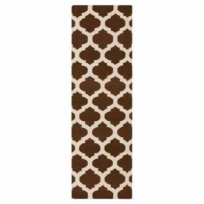 Hackbarth Hand-Woven Brown/Beige Area Rug Rug Size: Runner 26 x 8