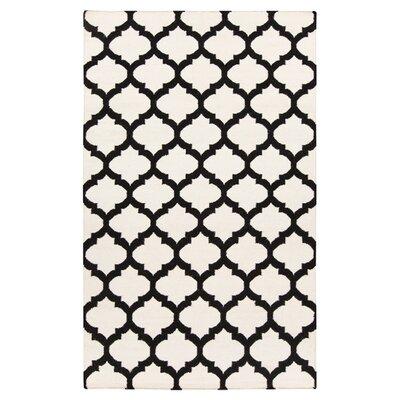 Hackbarth Hand-Woven Black/Ivory Area Rug Rug Size: 2 x 3