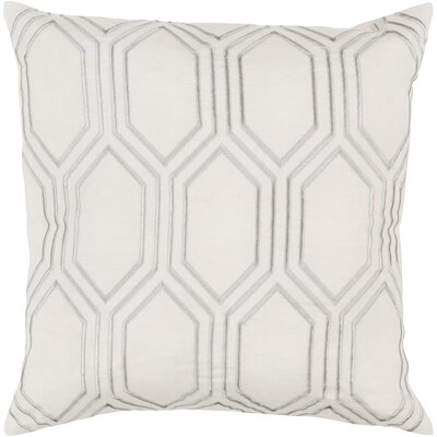 Lambda Down Fill Linen Throw Pillow Size: 22 H x 22 W x 4 D, Color: Ivory