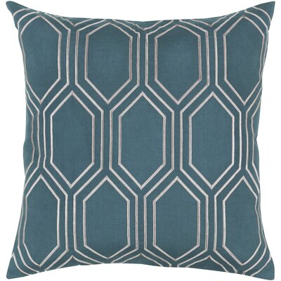 Lambda Down Fill Linen Throw Pillow Size: 18 H x 18 W x 4 D, Color: Teal