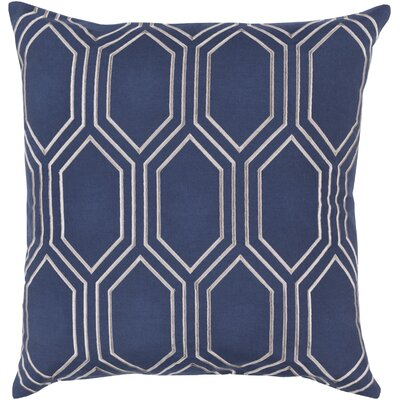 Lambda Down Fill Linen Throw Pillow Size: 18 H x 18 W x 4 D, Color: Cobalt