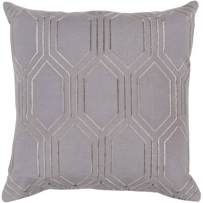 Camlin Down Fill Linen Throw Pillow Size: 22 H x 22 W x 4 D, Color: Charcoal