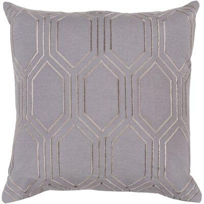 Camlin Down Fill Linen Throw Pillow Size: 20 H x 20 W x 4 D, Color: Charcoal