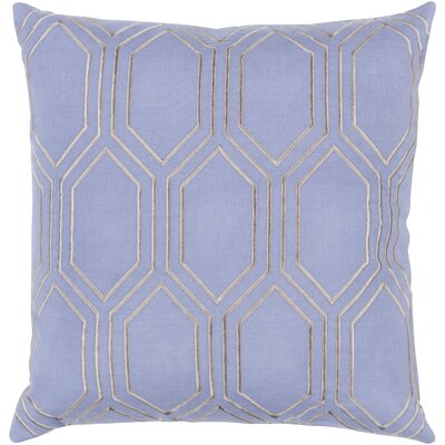Camlin Down Fill Linen Throw Pillow Size: 20 H x 20 W x 4 D, Color: Sky Blue