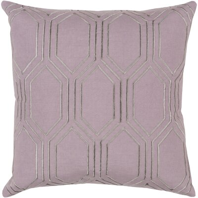 Lambda Down Fill Linen Throw Pillow Size: 20 H x 20 W x 4 D, Color: Mauve